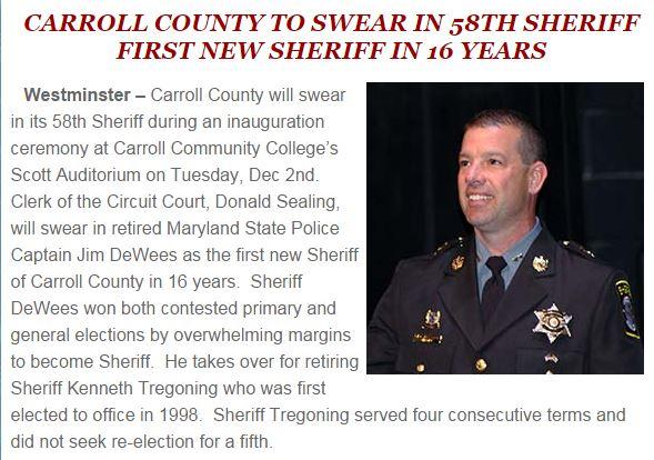 Dayhoff Carroll: December 2, 2014: Jim DeWees Carroll County