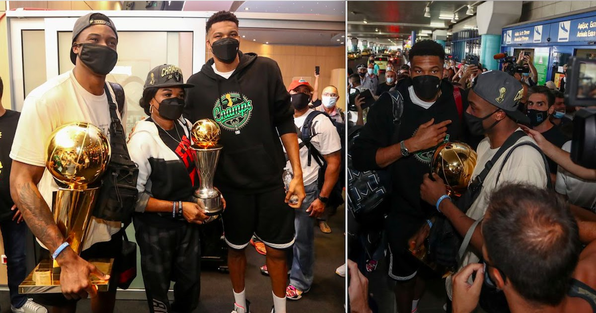 Antetokounmpo Brothers Bring Trophy Home To Greece After Winning NBA Championship