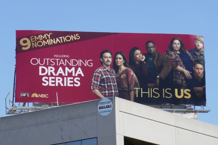 This Is Us season 3 Emmy nominee billboard