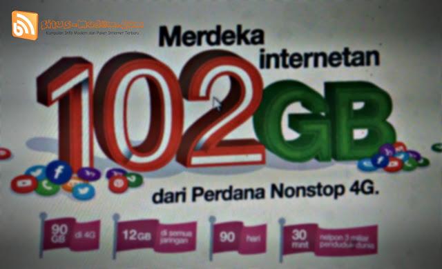 Wow Paket Kartu Perdana Nonstop 4G Tri Beri Kuota Hingga 102 GB, Berapa Harganya ???