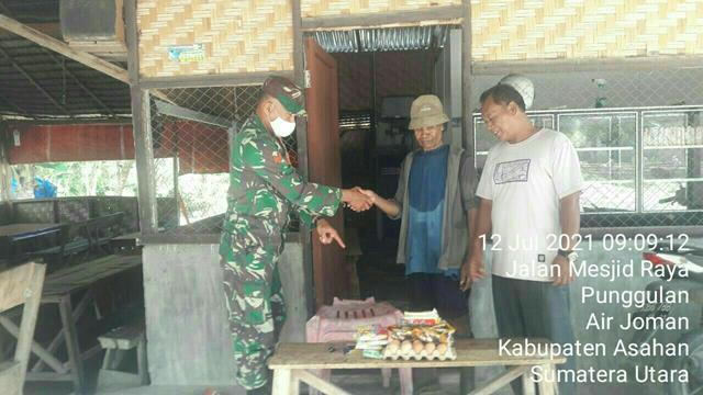 Komsos Diwilayah Binaan, Personel Jajaran Kodim 0208/Asahan Ajak Warga Masyarakat Jalankan Protokol Kesehatan Cegah Covid-19