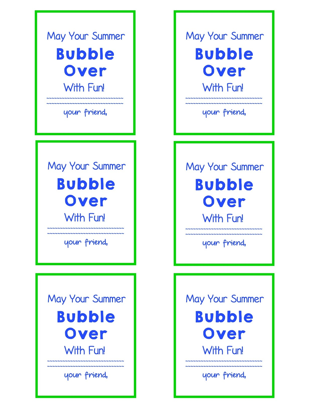 picture regarding Printable Bubbles referred to as Conclude of University Yr Reward Bubble Present Tags and Free of charge Printable
