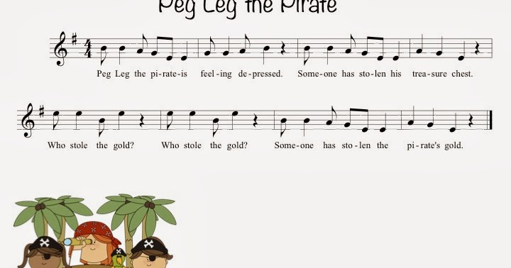 Kate's Kodály Classroom: Peg Leg the Pirate