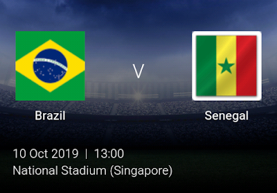 LIVE MATCH: Brazil Vs Senegal Fifa Internationals 10/10/2019