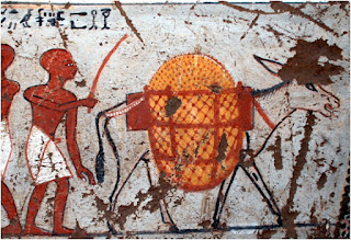 Scene from the New Kingdom tomb of Panehsy and Tarenu, TT16 (Dra Abu el-Naga)