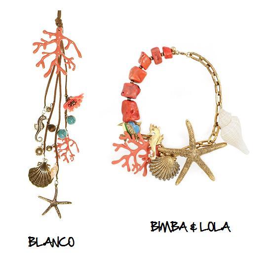 Clones 2011 collar coral Bimba & Lola Blanco
