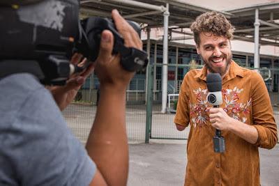 Repórter Daniel Toco (Paulo Mauzer / Record TV Rio)