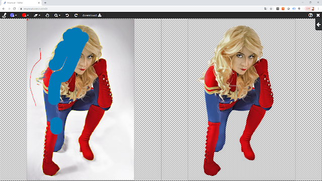 [ Enumcut ] Captain marvel costume play model Photo - Remove Background From Image  (Example)