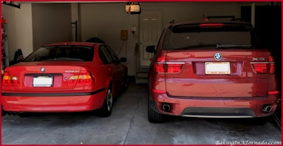 Mom car and son car | picture property of www.BakingInATornado.com