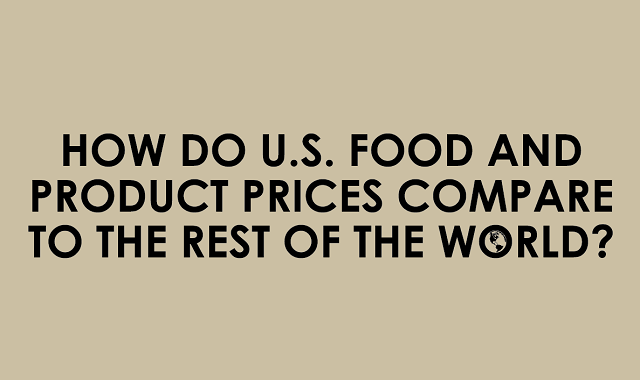 How Do U.S. Food and Product Prices Compare to the Rest of the World?