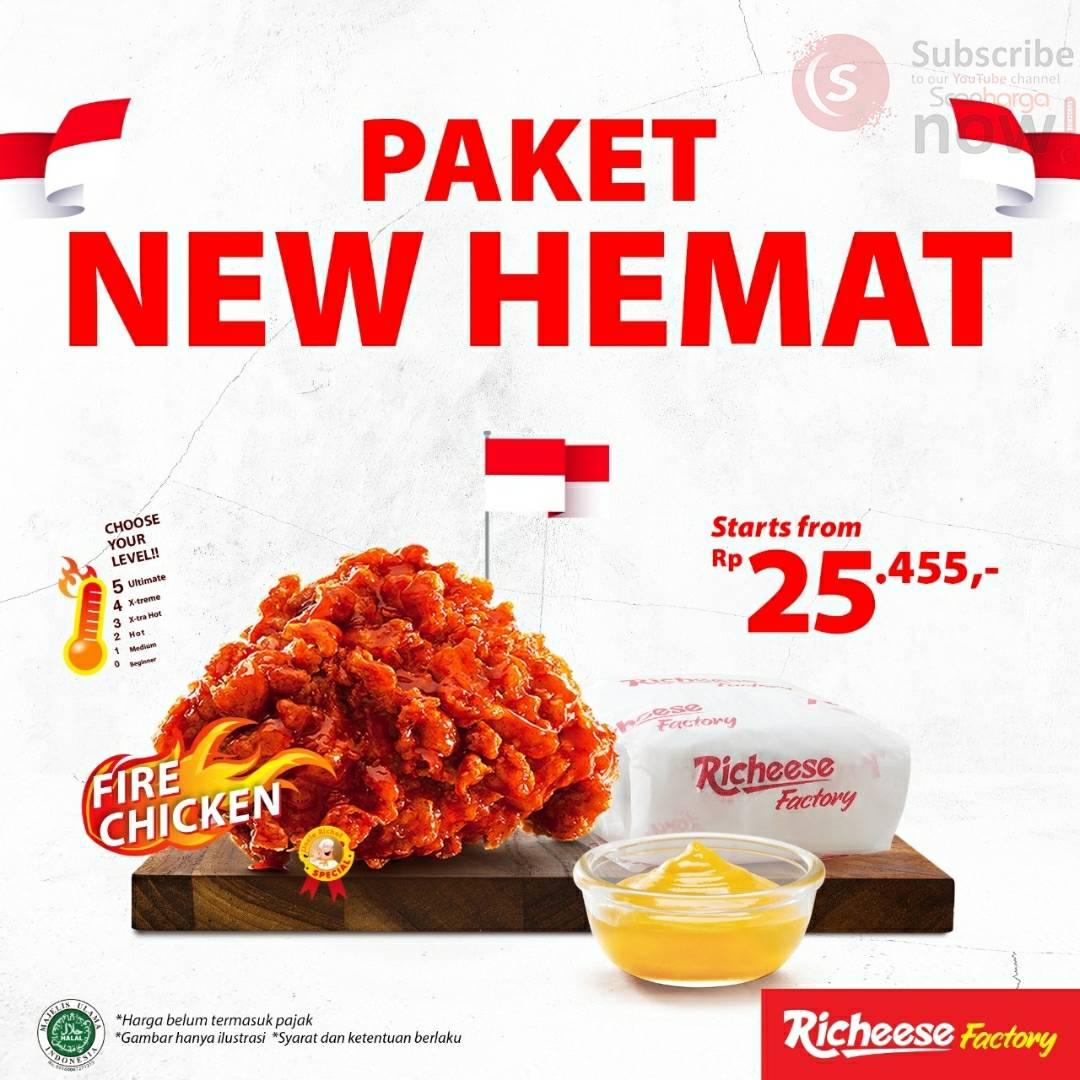 Promo Richeese Factory Paket New Hemat harga mulai Rp.25.454
