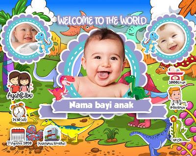 Jasa edit desain Babybio lucu atau Biodata Bayi lucu untuk ...