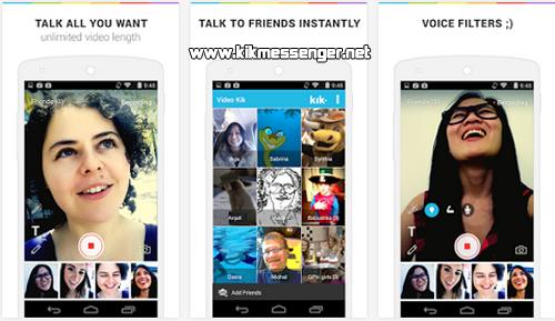 Graba y envia videos a tus amigos en los chats de Kik Messenger