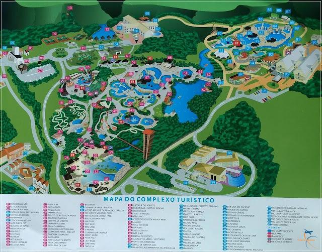 Mapa do Complexo do Rio Quente Resorts