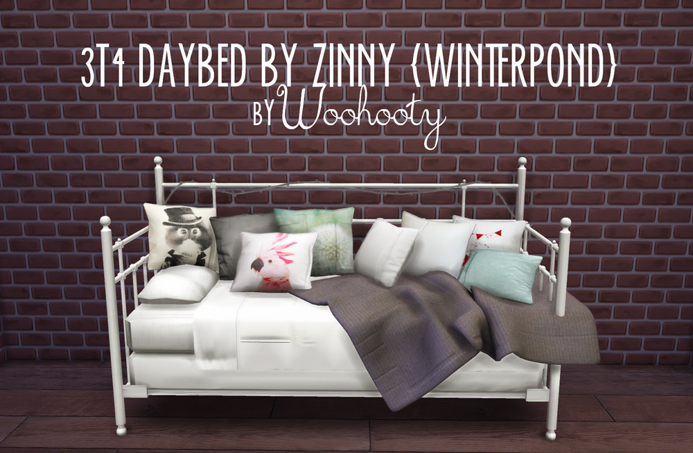 My Sims 4 Blog Ts3 Winterpond Daybed Conversion By Woohooty