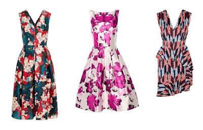 Платья с принтом холодных расцветок