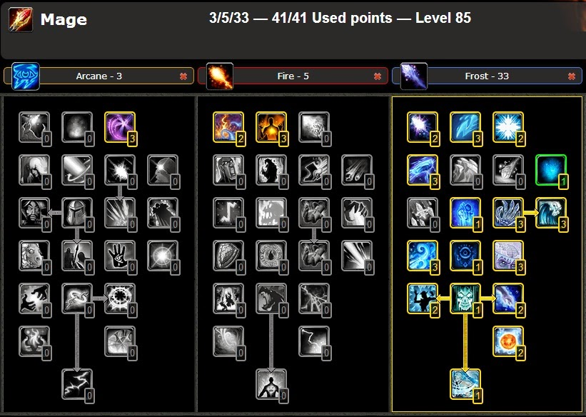 DPS PVE - FROST MAGE TALENT GUIDE WOW CATA 4 3 4 |WoW - Best PVP/PVE