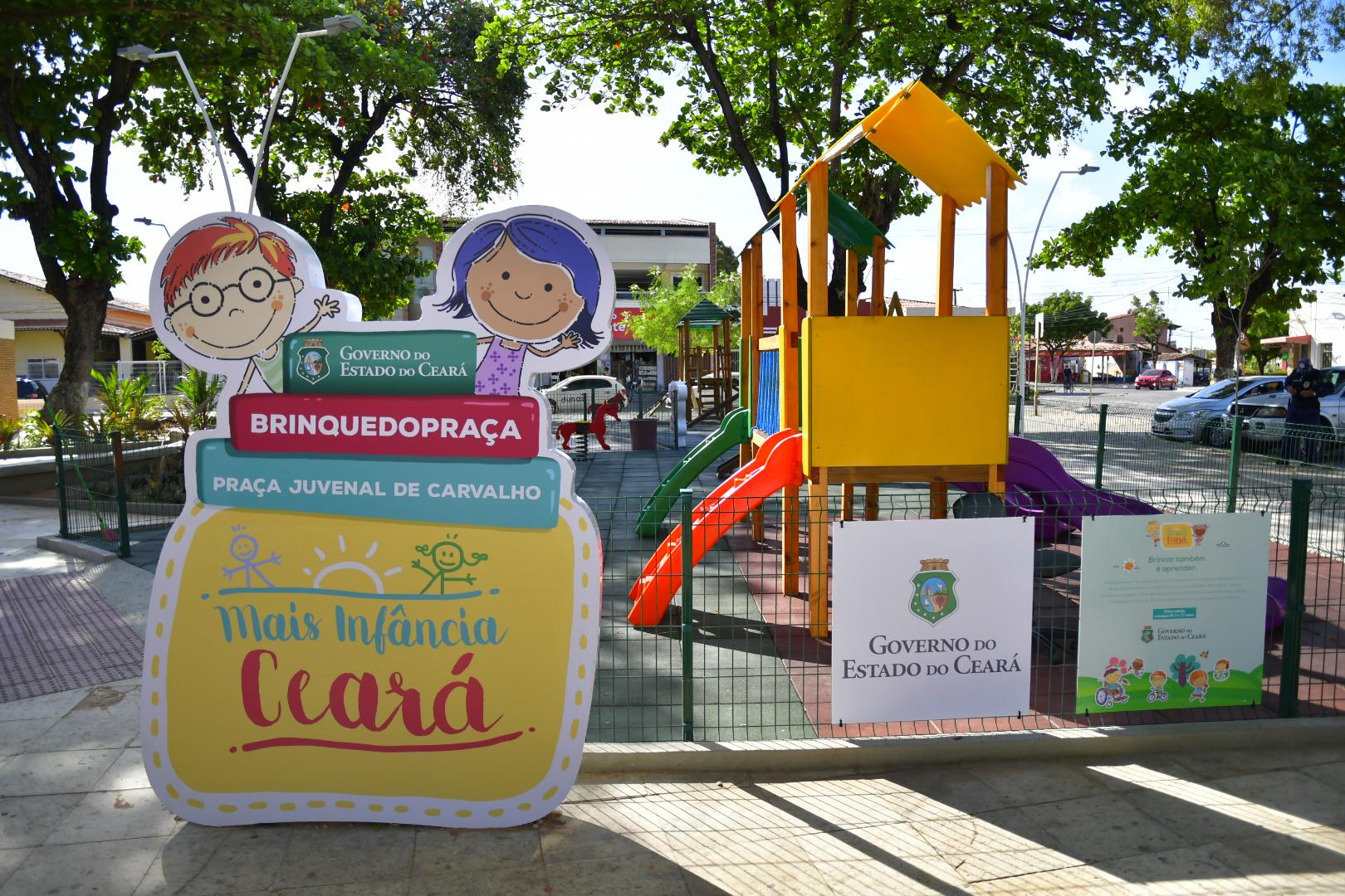 Governo do Ceará chega à marca de 111 brinquedopraças entregues