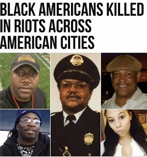 Black persons killed in riots, terrorism in USA