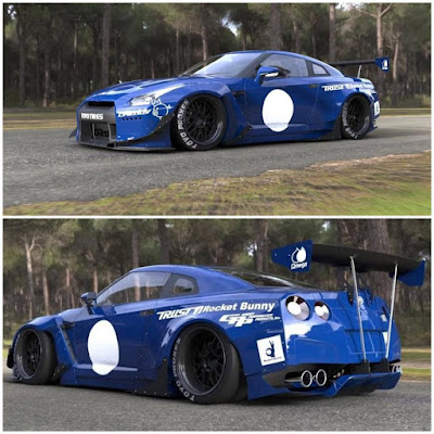 Nissan GT-R R35 Rocket Bunny Custom Modification