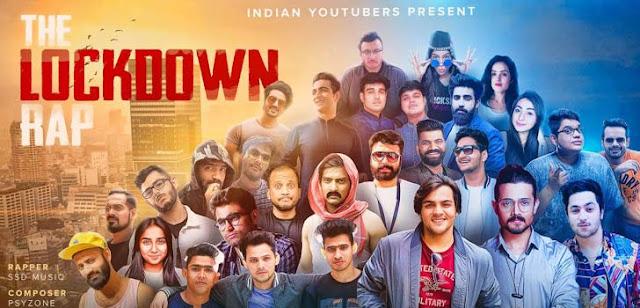 The Lockdown Rap Lyrics - Indian Youtubers | SSD Music