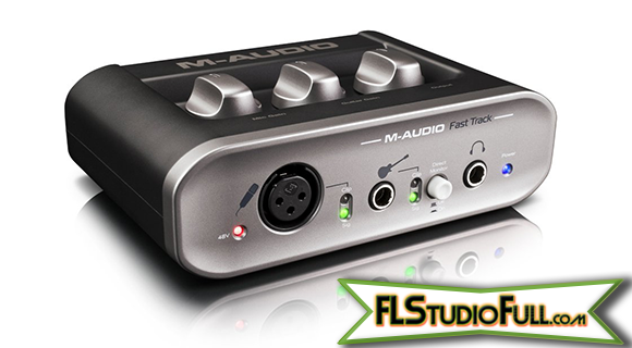 M-Audio Fast Track 2 - Interface Para Home-Studio (Ângulo)
