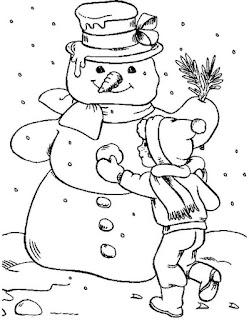 איש שלג לצביעה