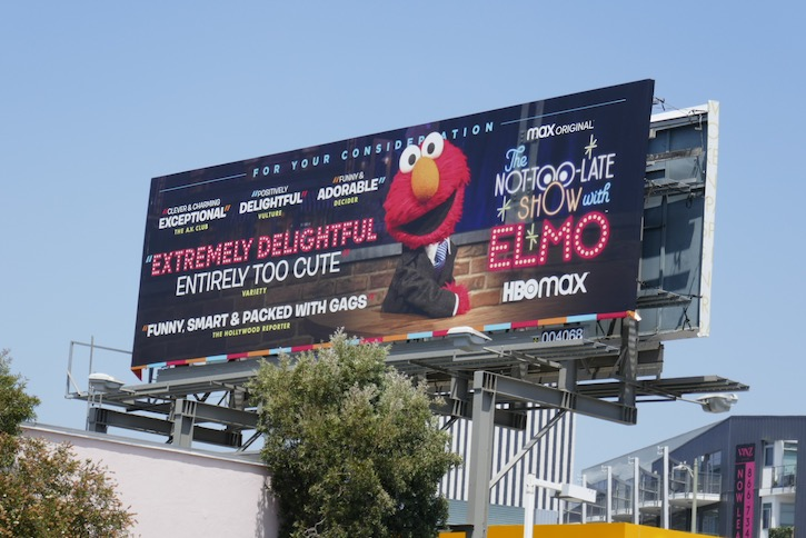 Not-Too-Late Show Elmo season 1 Emmy FYC billboard