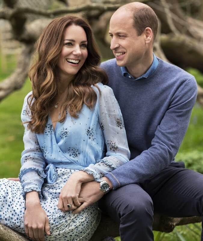 Kate Middleton wore Avery floral print dress by Ghost. The Duke and Duchess got married at Westminster Abbey