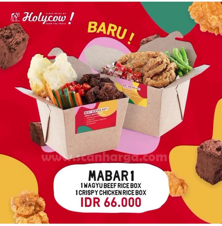 Steak Hotel by Holycow Promo Paket MABAR Rice Box mulai Rp 66.000