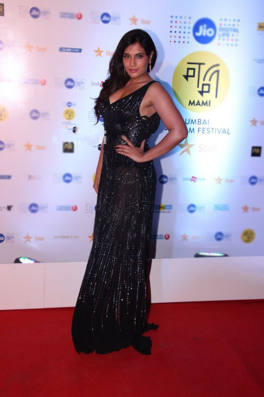 Richa Chadha in Black Designer Gown At MAMI 2016 Closing Night Event