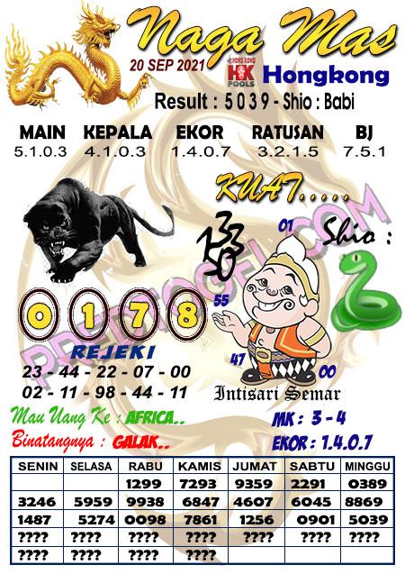 Syair Hk Nagamas Senin 20 September 2021
