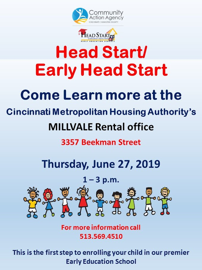 Head Start Sign-Up Days - Thursday, June 27, 2019