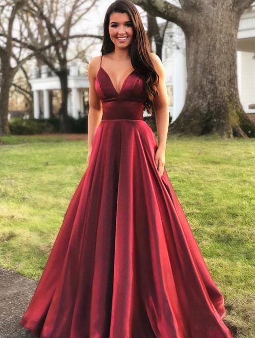 vestido de festa marsala modelo princesa