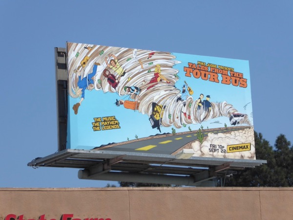 Mike Judge Tales from Tour Bus billboard