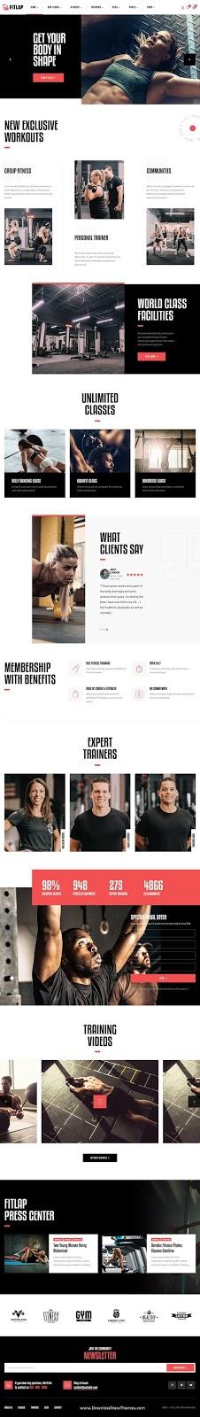Best Gym & Fitness Club WordPress Template