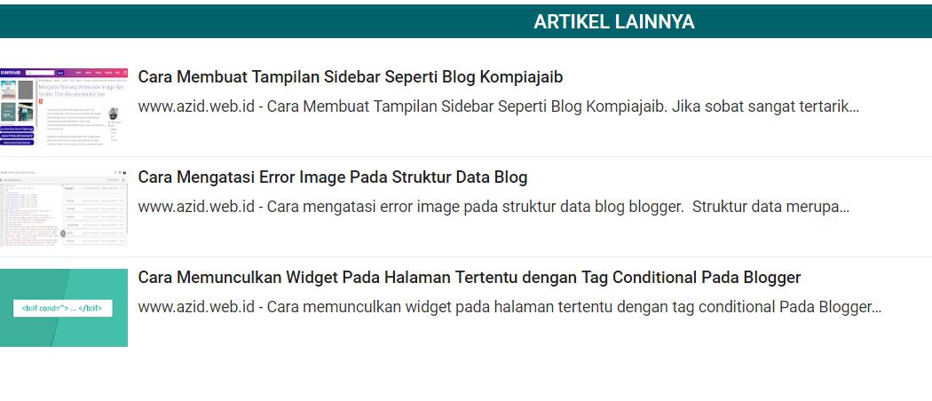 Cara Membuat Related Post Bergerak Pada Blogger AMP dan Non AMP