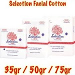 Selection Kapas 75g Facial Cotton Kapas Wajah 75 gr Pembersih Make up
