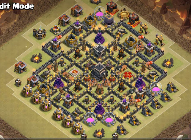 good town hall 9 base design for war