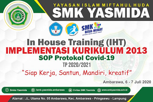 Desain Banner IHT SOP Protokol Covid19 | SMK Yasmida