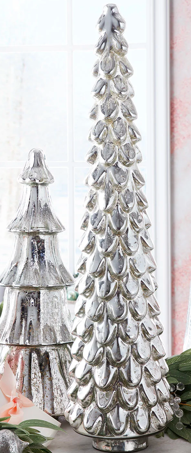 "31"" Silver Mercury Glass Tree"