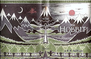 J.R.R. Tolkien The Hobbit book cover animatedfilmreviews.filminspector.com