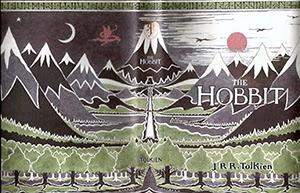 J.R.R. Tolkien The Hobbit book cover animatedfilmreviews.filminspector.com