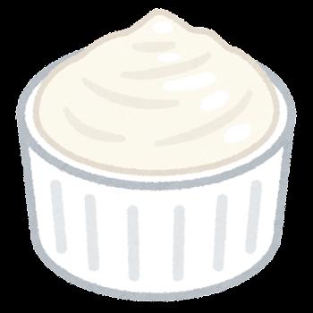 カップに入ったクリームチーズのイラスト