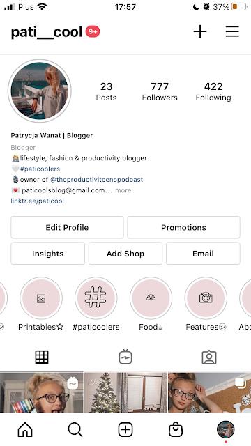 Instagram, pati cool, Patrycja Wanat, teen blogger