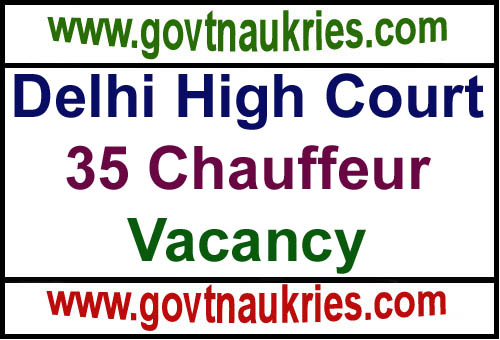 Govt Jobs for Delhi High Court