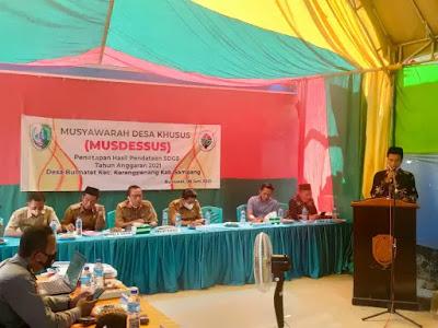 Desa Bulmatet selesaikan Pendataan SDG's Desa