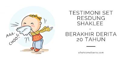 Testimoni Set Resdung Shaklee - Berakhir Derita 20 Tahun