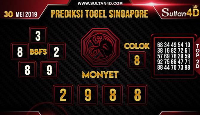 PREDIKSI TOGEL SINGAPORE SULTAN4D 30 MEI 2019