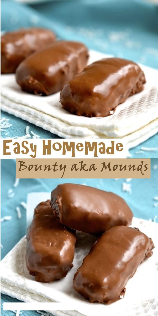 Easy Homemade Bounty aka Mounds #cookiesrecipes
